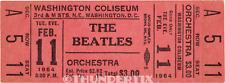 1  BEATLES VINTAGE UNUSED FULL CONCERT TICKET 1964 Washington D C red  laminated