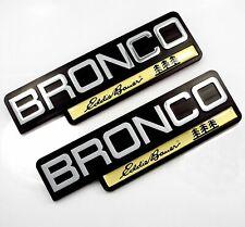 NEW 92-96 Ford Bronco EDDIE BAUER Fender Emblem Nameplate Logo Ornament Set of 2