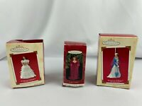Lot of 3 Hallmark Ornaments Scarlett O'Hara Gone With The Wind w Boxes