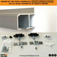 BINARIO KG 80 KIT PER PORTA SCORREVOLE CM 120/130/140/150/180/200/250 laterale