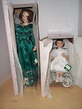 Winter Romance Wedding Party by Ashton Drake 2 Doll Set Bridesmaid & Flower Girl