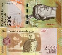 Venezuela / Venezuela 2000 Bolivares Banknote 2017 kassenfrisch Pick New UNC.
