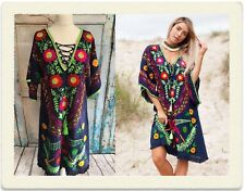 BNWT Embroidered Handwork piments Boho Peasant Festival Dress S M L XL