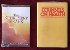 2 Ellen G White Books: Counsels on Health ~ The Retirement Years PB New & Sealed