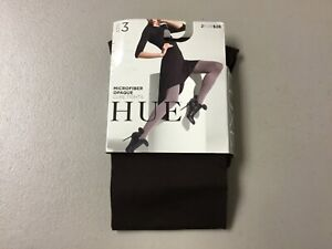 NWT Hue 70 Denier Microfiber Opaque Luxe Tights Size 3 Espresso #265U