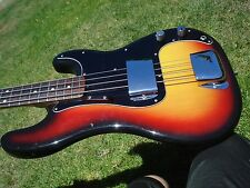 1974 Fender P Bass Precision Sunburst Vintage Bass Guitar USA American 8.4 lbs