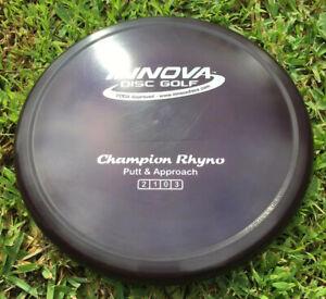 "Innova Patent #ed ""Grape Ape""Champion RHYNO 171g Disc Golf Putter"