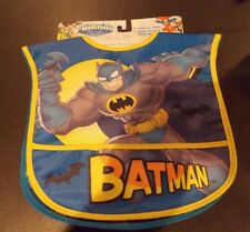 Batman Toddler Bibs Pack of 2 by DC Super Friends, Water Resistant FREE SHIPPING