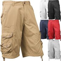 Mens Cargo Shorts Casual Multi Pocket Short Twill Cotton Pants Summer 30 42