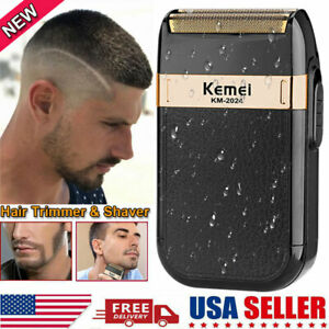 US Professional Trimmer Barber, Salon, Hair Cut, Clippers,3D Electric Shaver NEW