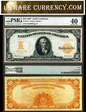 1907 $10 Gold Certificate FR-1171 PMG Graded EF40