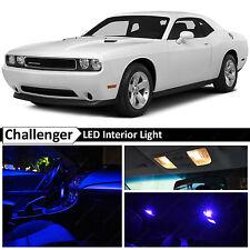 9x Blue Interior LED Lights Package Kit for 2008-2014 Dodge Challenger
