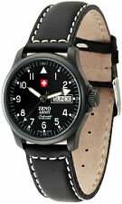 Zeno pilota Basic Army Black Day/Date Automatico