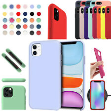 For Apple Hard Liquid Silicone Case Fit iPhone 12 11 Pro Max X XS Max XR Cover