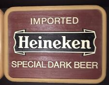 "Heineken Beer Signs ""Imported Heineken Special Dark Beer"" Man Cave Bar - Nos"