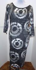 Route 66 Original Clothing Black & White Tie-dye Print Dress Mid-Calf medium NWT