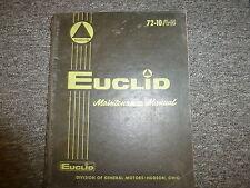 Euclid Model 72-10 L-15 Front End Wheel Loader Shop Service Repair Manual