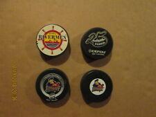 Ihl Ahl Echl Peoria Rivermen Vintage Lot of 4 Different Logo Hockey Pucks
