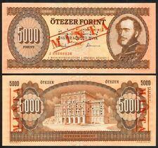 HUNGARY 5000 FORINT 16.12.1993 SPECIMEN P177s UNC