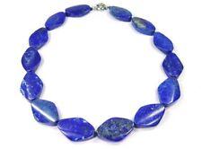 PRECIOSO Collar de Lapislázuli naturqualität en forma ovalada MECANIZADA