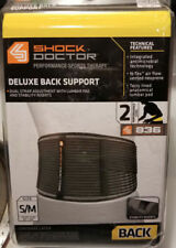 Shock Doctor 836 Deluxe Back Support Lumbar Wrap Pad Dual Strap Relief S/M
