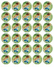 """DIEGO DORA THE EXPLORER 30 1.5"""" ROUND (35mm) EDIBLE WAFER PAPER CUPCAKE TOPPERS"""