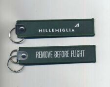 ALITALIA airline key ring REMOVE BEFORE FLIGHT MILLEMIGLIA freccia alata pin ax