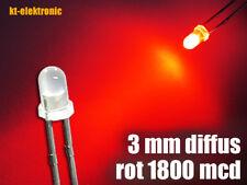 10 Stück LED 3mm rot diffus superhell
