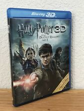 HARRY POTTER AND THE DEATHLY HALLOWS PART 2 3D (3D/Blu-Ray, 2011) 2-DISC SET