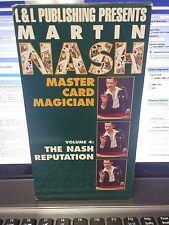 Martin Nash MASTER CARD MAGICIAN VOL 4 The Nash Reputation VHS Video Tape Magic