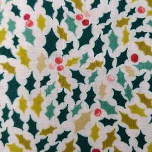 Merry holly christmas fabric by Makower