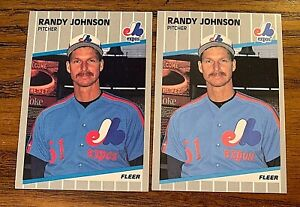 1989 Fleer #381 Randy Johnson RC - Mariners (2)