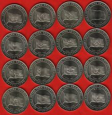 "Turkey set of 16 coins: 1 kurus 2015 ""The Great Turkish Nations"" UNC"