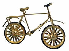 1 12th Scale Gold Coloured Childs Metal Bicycle Dolls House Miniature Accessory