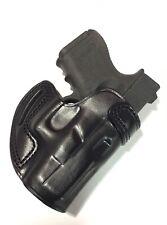 Leather CROSS DRAW Holster - GLOCK 26 / 27, S&W M&P SHIELD 9mm  - (# 7727 BLK )