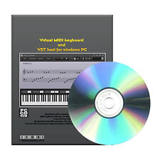 Virtual MIDI keyboard and a VST host PIANO On Key for Windows XP VISTA 7 CDROM