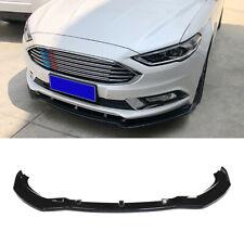 For 2019 2020 Ford Fusion Mondeo Front Bumper Lip Spoiler Splitter Gloss Black