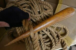 Antique SAILOR'S HARDWOOD ROPE SPLICING FID Marlin Spike Maritime Nautical Tool