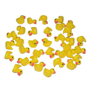AMOBESTER Slime Charms Ducks Hard Resin Duck Charms 50Psc Slime Beads for