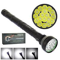 Super Power 18x XM-L2 LED Flashlight 22000lm Tactical Light Hunting Torch 5Modes