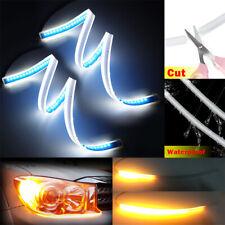 2pcs 60cm LED Headlight Slim Strip Light Daytime Running Sequential Signal Lamp