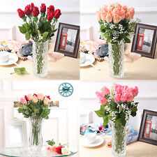 10/5 Pcs Real Latex Touch Rose Flowers Wedding Party Home Design Bouquet Decor