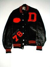 Dowagiac Michigan MI High School Football Athletic Leather Letter Jacket 1978