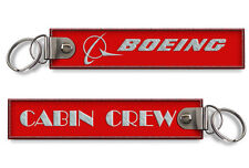 Boeing-Cabin Crew BagTag (BUCKLE)-RED X2