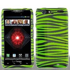 For Motorola DROID RAZR MAXX HARD Case Snap On Phone Cover Green Zebra