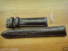 Genuine ORIS CLASSIC XXL DATE Brown Leather band bracelet strap  633 7505 18MM
