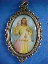 Antique Bronze Saint POPE JOHN PAUL II, JESUS DIVINE MERCY Medal Year of Mercy