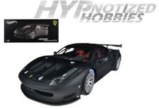 HOT WHEELS ELITE 1:18 FERRARI 458 ITALIA GT2 DIECAST MATTE BLACK BCK09