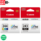 New! Genuine Canon Ink Cartridges PG-243 & CL-244 For MG2522 MG2525 MG3022