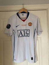 2008-09 Manchester United Away Shirt - Medium -*Ronaldo 7 On Back + CL Insignia*